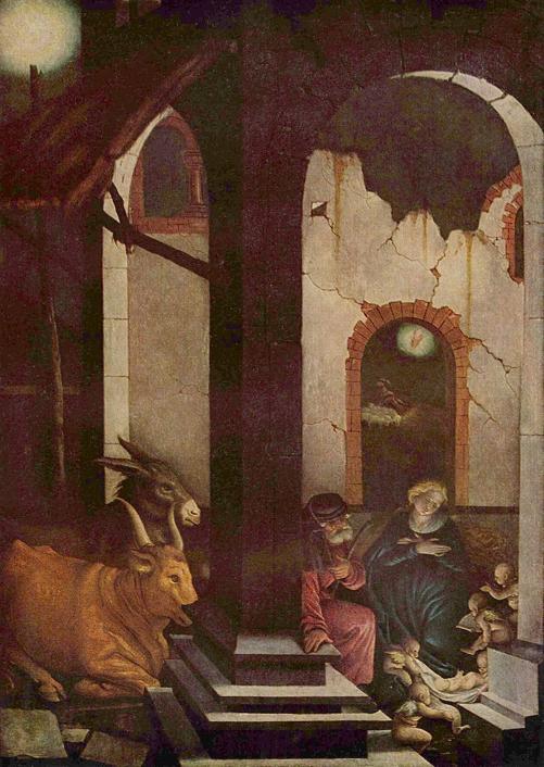 —Baldung,Hans.  Nativity .1520.Alte Pinakothek,Munich.