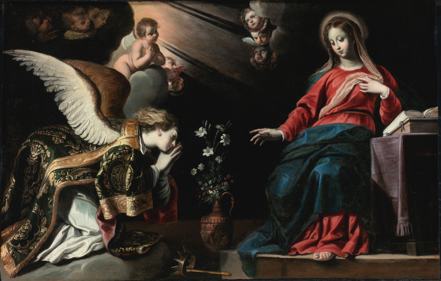 —Seghers, Gerard.  The Annunciation . 1620. Lempertz Auction House, Cologne.