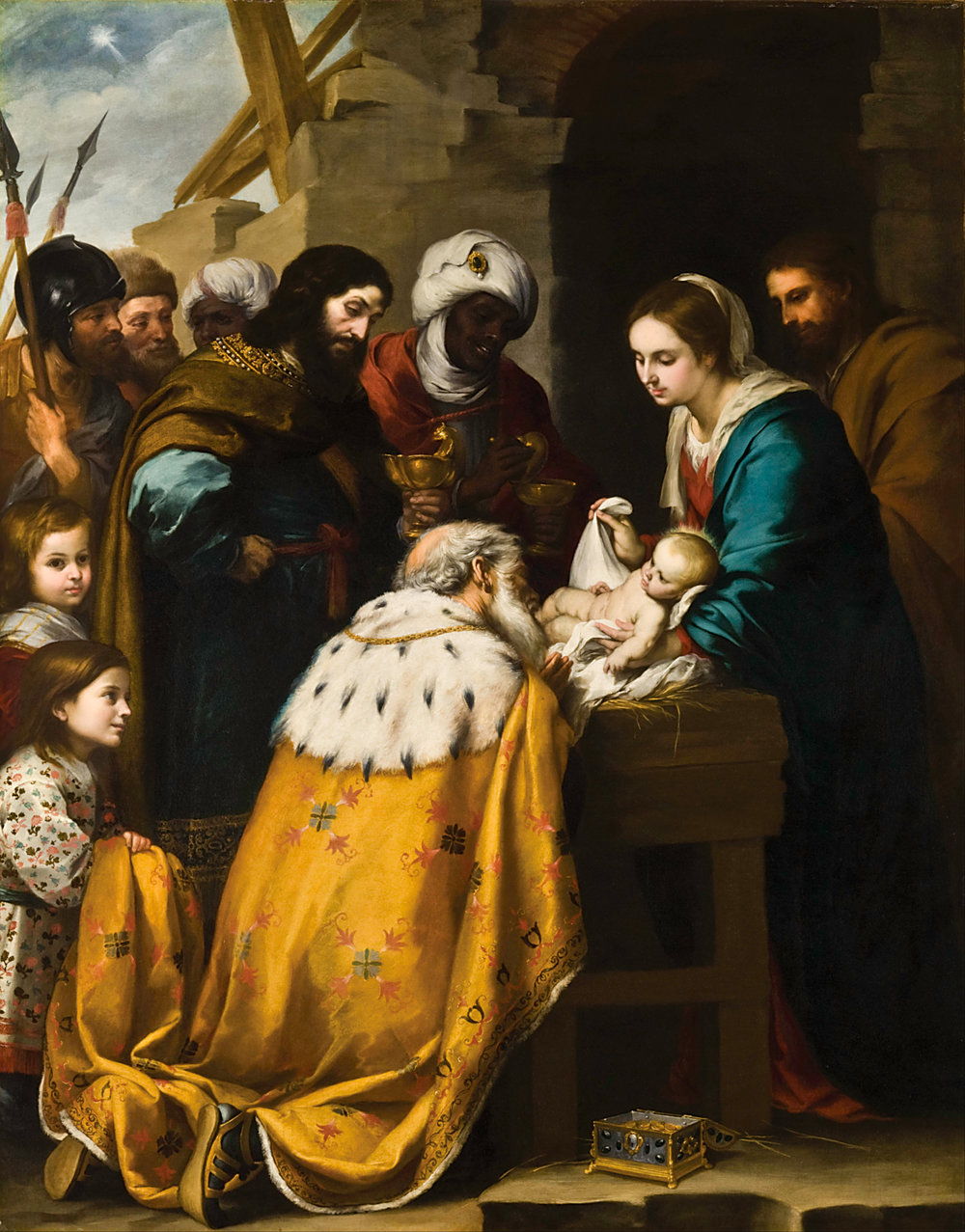 —Murillo, Bartolomé Esteban.  The Adoration of the Magi . 1655-1660. Toledo Museum of Art, Ohio.