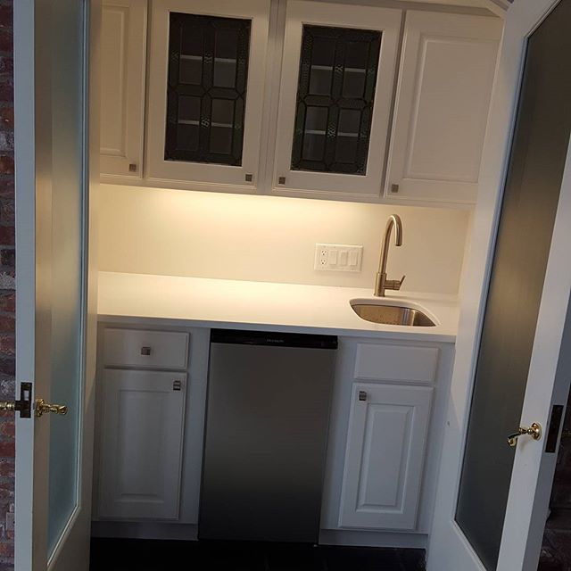 Rebuilt wet bar