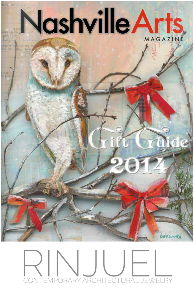 RINJUEL Nashville Arts Magazine 2014 Holiday Gift Guide