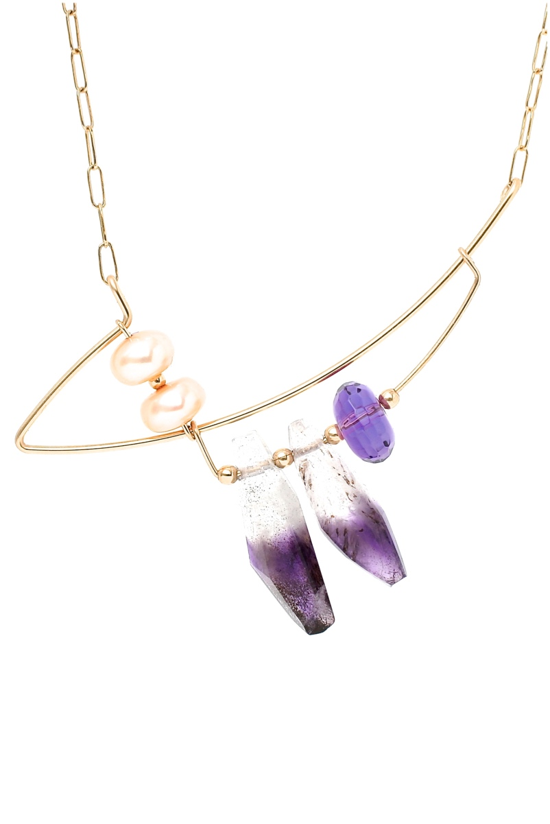 RINJUEL WATER necklace in amethyst