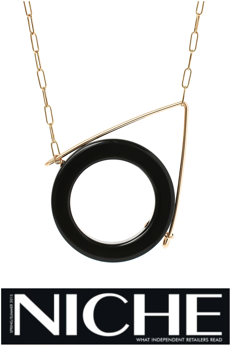 RINJUEL ZERO necklace in black onyx in Niche Jewelry 2015 Inspired and Experimental
