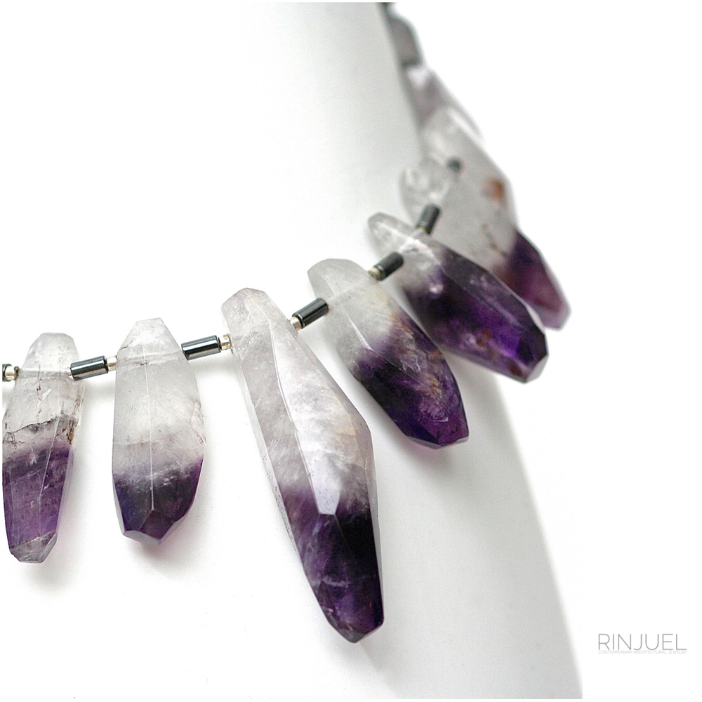 RINJUEL STORM necklace in amethyst and sterling silver