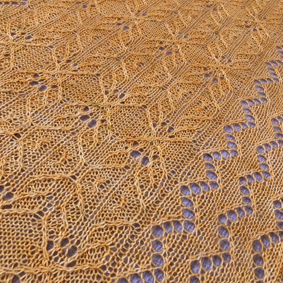 Gorse shawl detail