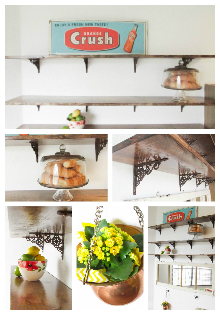 How To: DIY Beautiful Open Kitchen Shelves - Pocketful of Posies