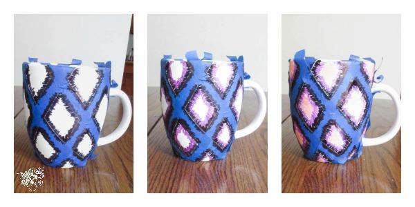 iKat Watercolor Sharpie Mug Ink design
