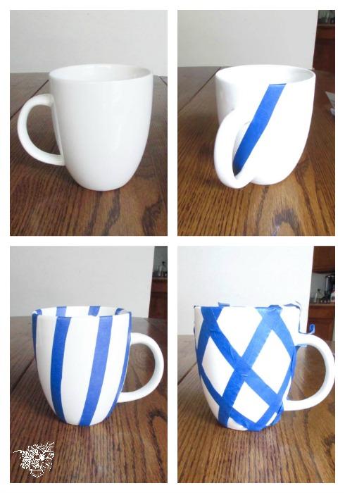 watercolor ikat mug tape layout