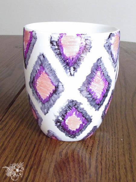 iKat Watercolor Mug Start of Blending Process