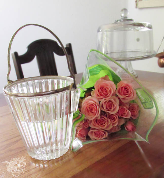 A Simple Rose Arrangement - How to get the Most Out of Grocery Store ...