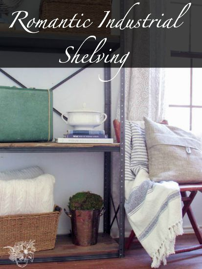 Romantic Industrial Shelves