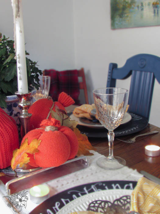 Thrifted Fall Table/Thanksgiving Table Decorating on a Budget - Pocketful of Posies