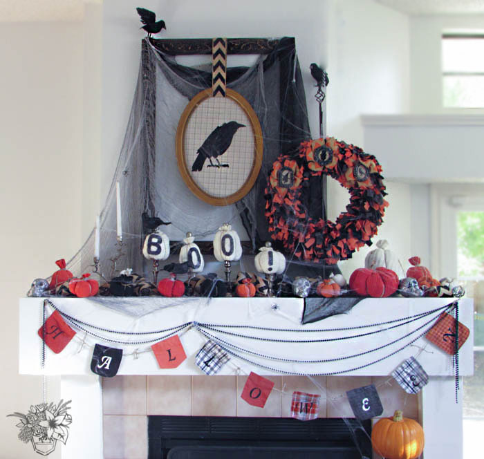 Spectacular Halloween Mantle - Pocketful of Posies
