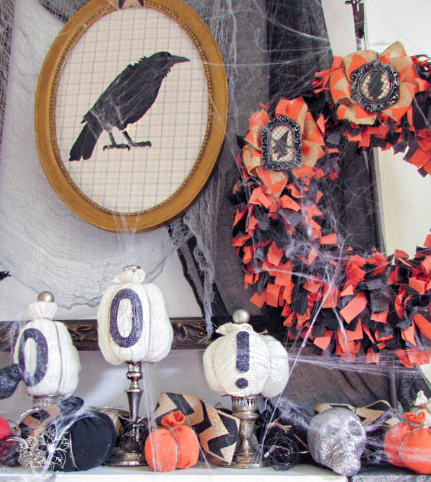 Spooktacular Halloween Mantle - Pocketful of Posies