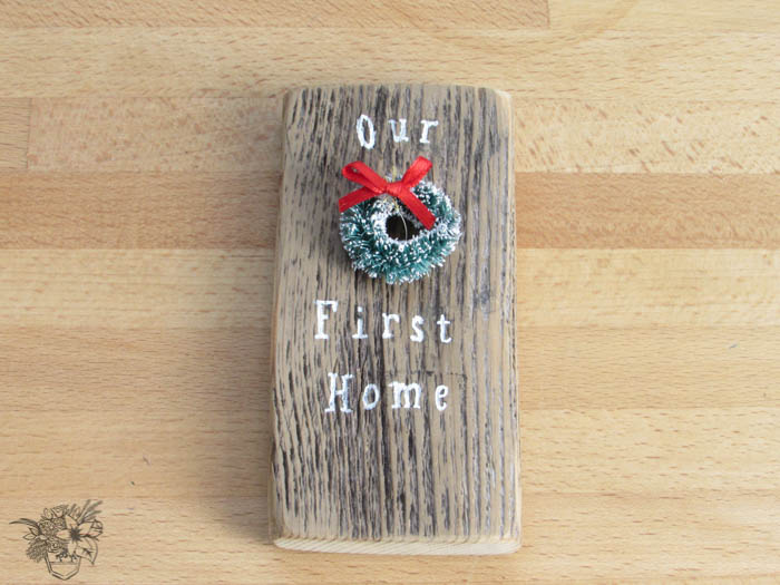 """DIY Door """"Our First Home"""" Ornament"""