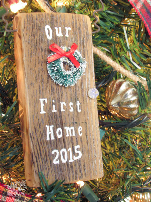 """DIY Door """"Our First Home"""" Ornament - Pocketful of Posies"""