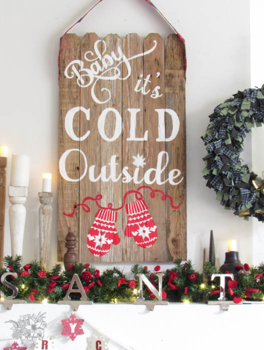 Reclaimed Christmas Wall Art: Create and Share Holiday Stencil Craft Hop - Pocketful of Posies