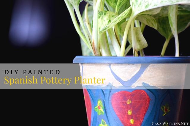 DIY Painted Spanish Pottery - Casa Watkins