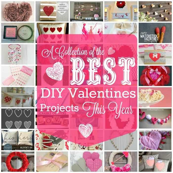 40 of the very best DIY Valentines Day projects for this year. Everything from Home decor to valentines gifts all in one place.