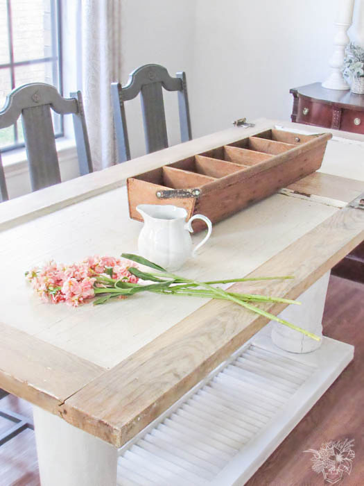 Old door to New One of a Kind Dining Table - February Create and Share Challenge - Pocketful of Posies