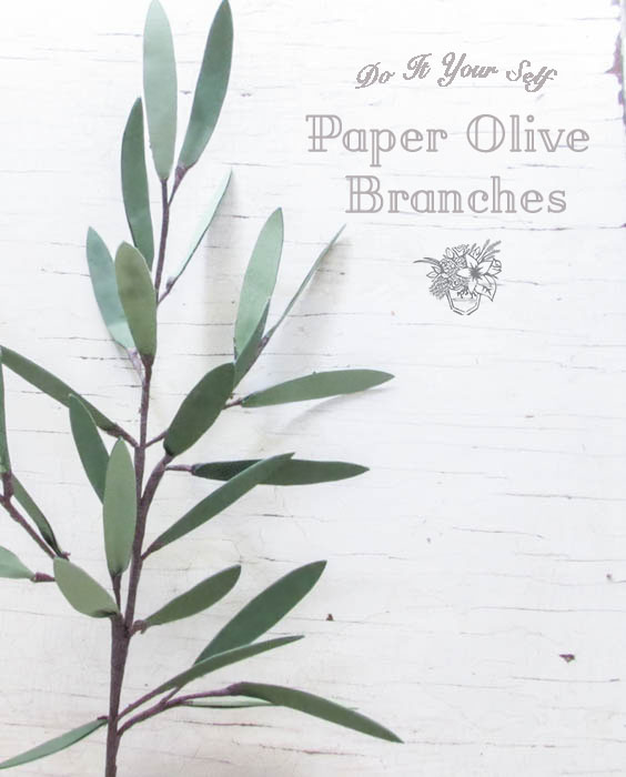 DIY Paper Olive Branches Silhouette Creators March Challenge - Pocketful of Posies