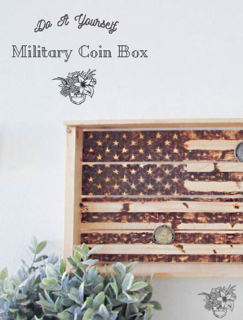 DIY Military Coin Box Create and Share Challenge - Pocketful of Posies
