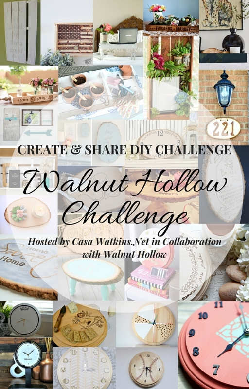 March Create and Share Challenge, Walnut Hollow - Pocketful of Posies