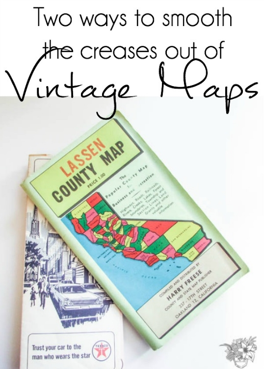 Two ways to smooth the creases out of Vintage Maps