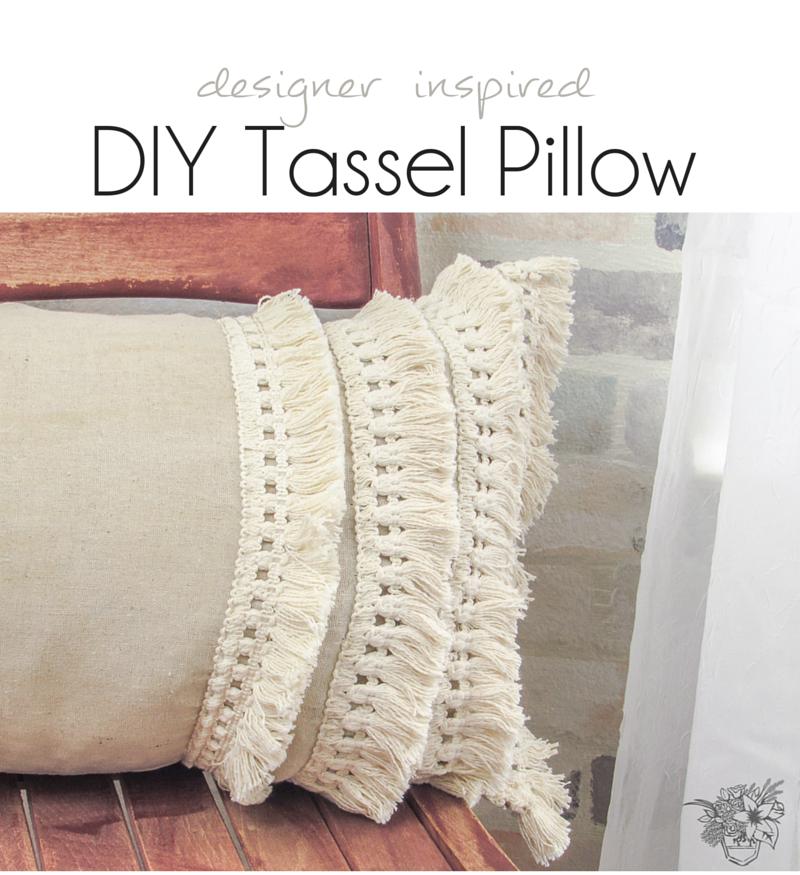 Designer Inspired Tassel Pillow - Pocketful of Posies