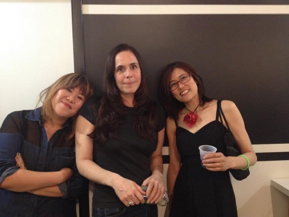 Me, Liz Jaff, Sophia Chizuco at Parenthesis Art Space.  Photo Credit: Sophia Chizuco