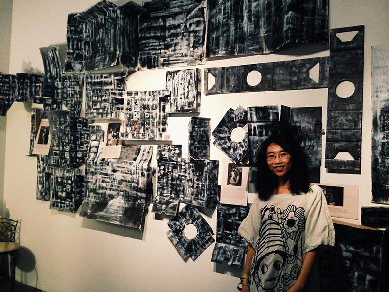 Fina in her studio