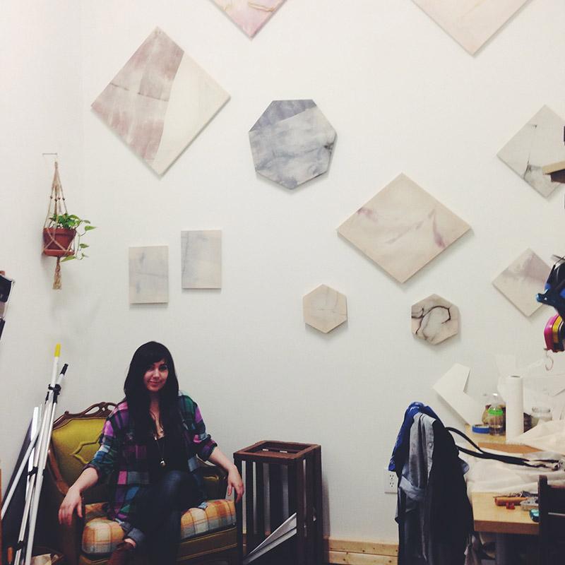 Samantha Robinson in her studio