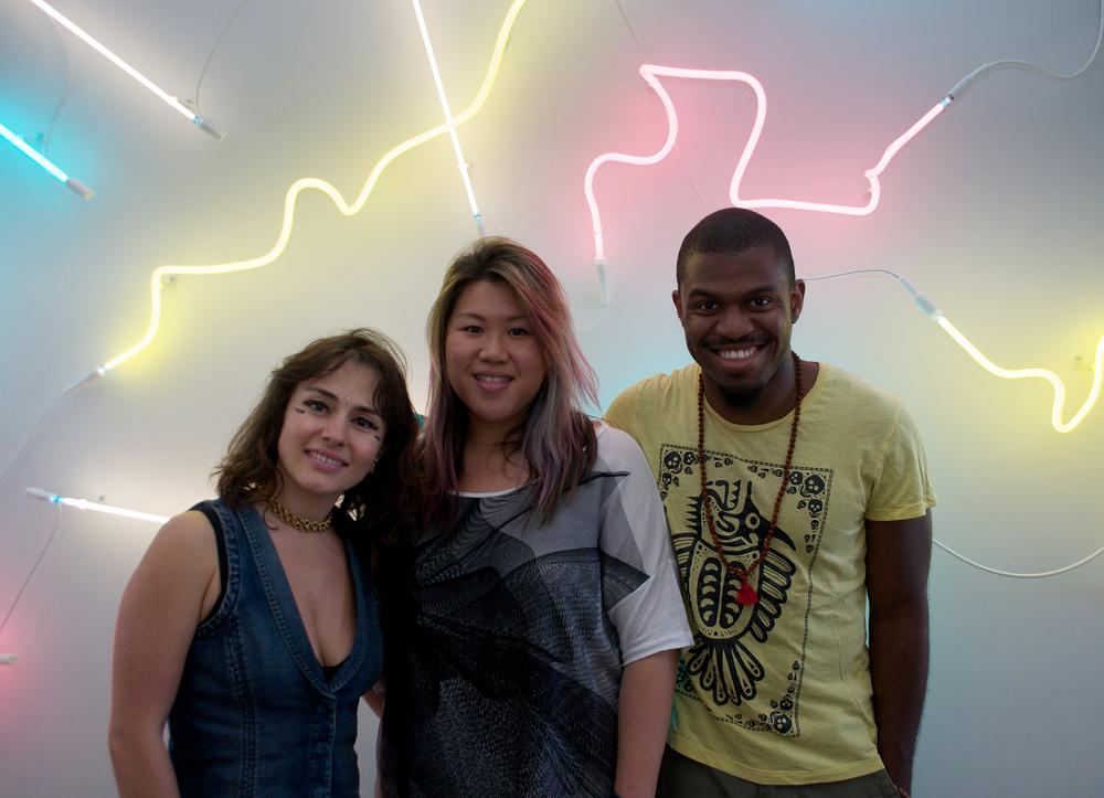 Snapshots of visitors to my studio Photo: Eiwe L