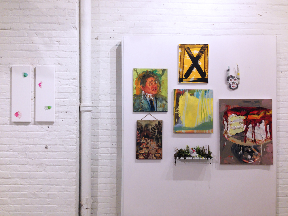 My X series painting at the Seeking Space Exhibition Photo: Samantha Robinson