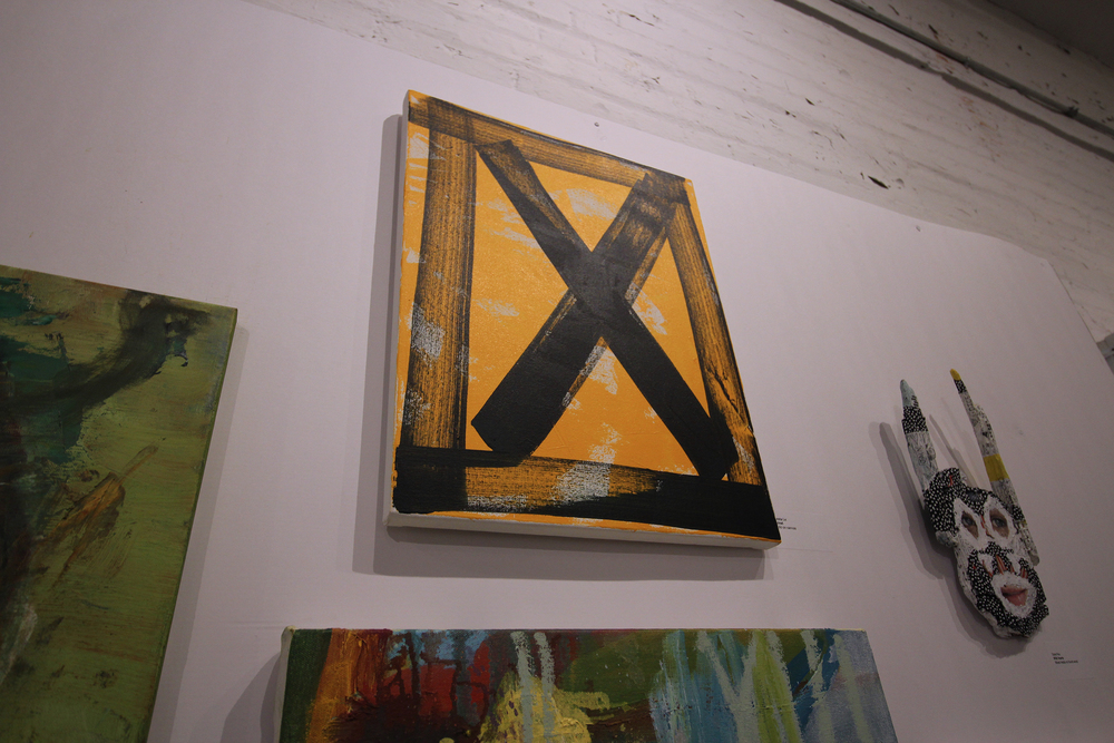 My X series painting at the Seeking Space Exhibition Photo: Lawrence Yu