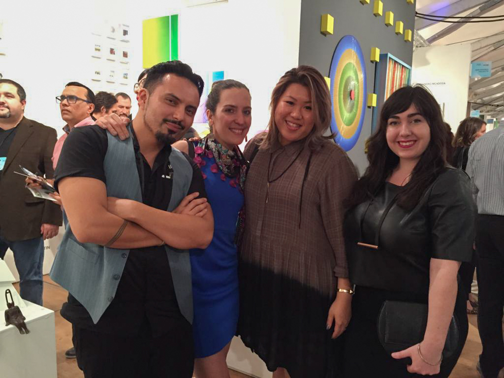 Visiting our friends at Scope Art Fair. L-R: Artists Luis Martin, Sarvin Haghighi, Samantha Robinson.