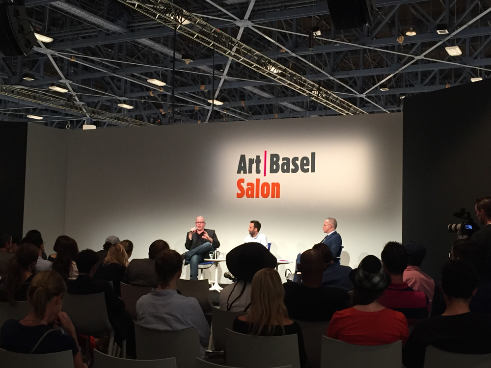 Got to check out a talk at Art Basel with Alex Israel and Bret Easton Ellis.