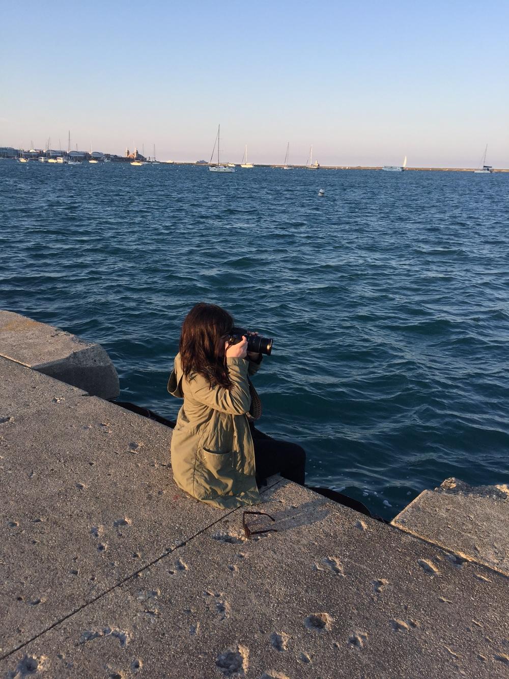 Sam taking photos