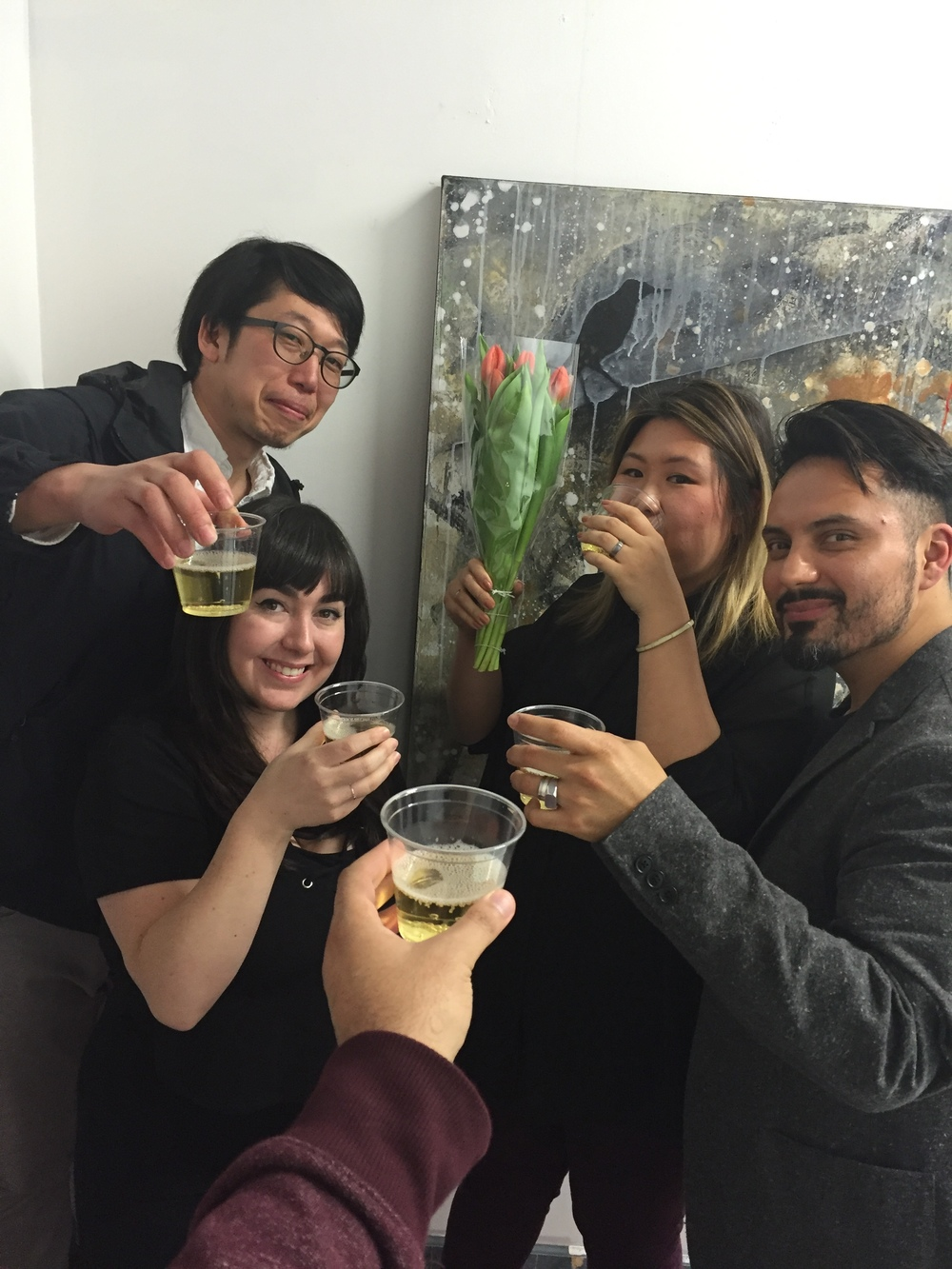 Toast at the opening!