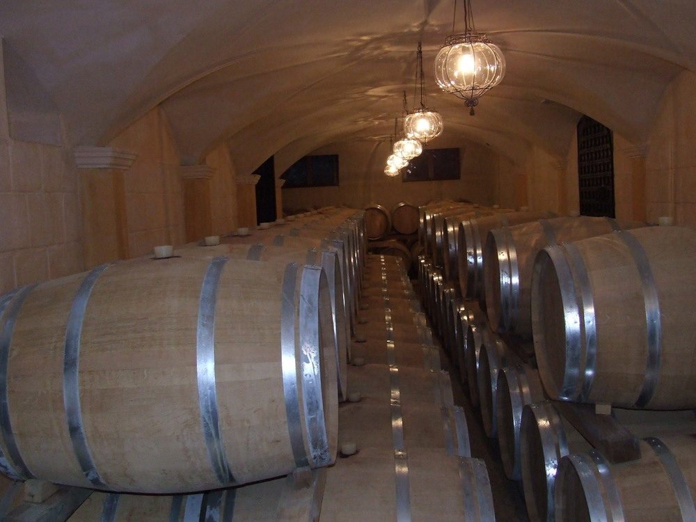 French oak barriques in the Orignal Cellar