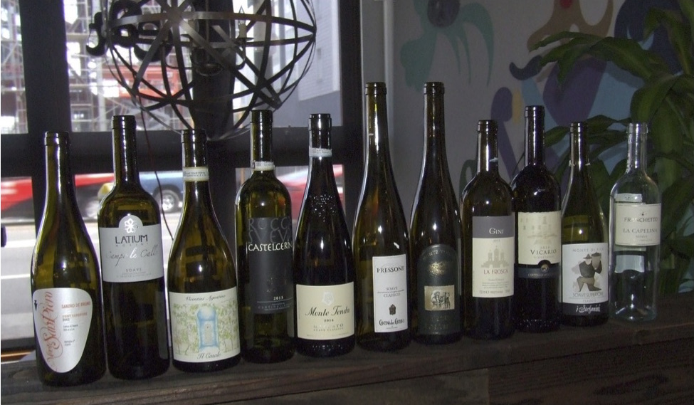 A wonderful lineup of Cru Soaves