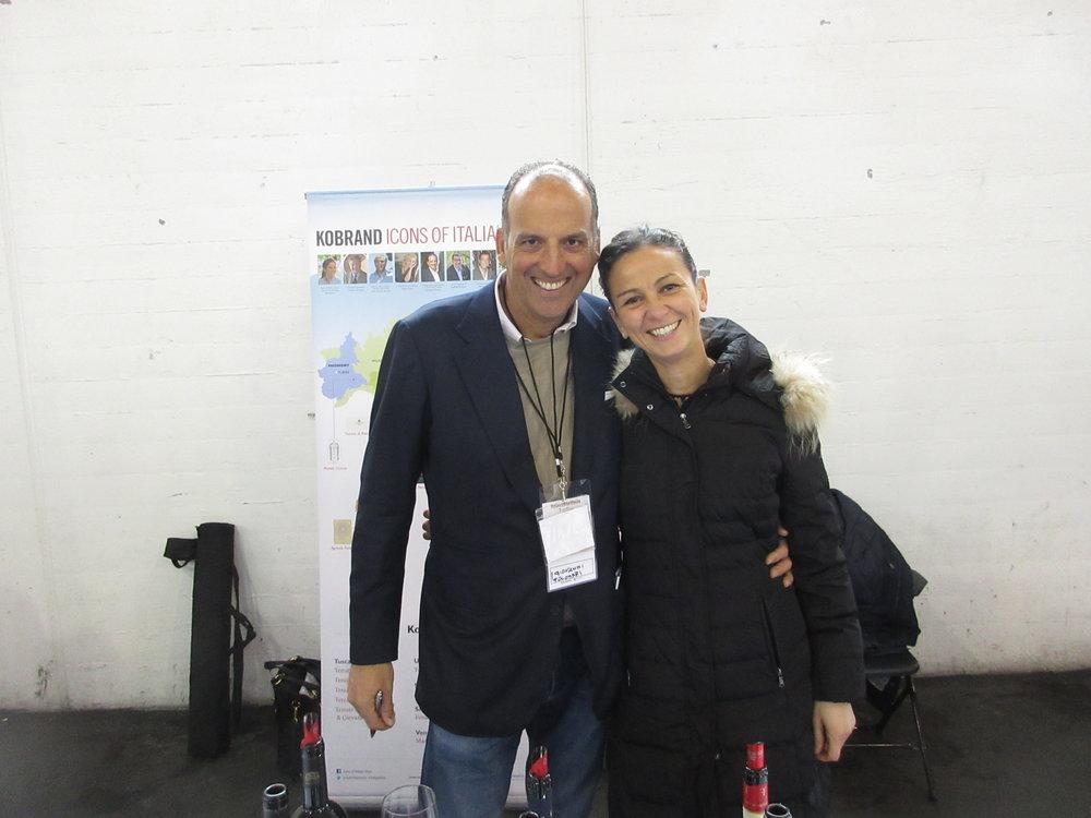Giovanni Folonari & Export Manager Laura DassiÈ at tre bicchieri 2019 in San Francisco