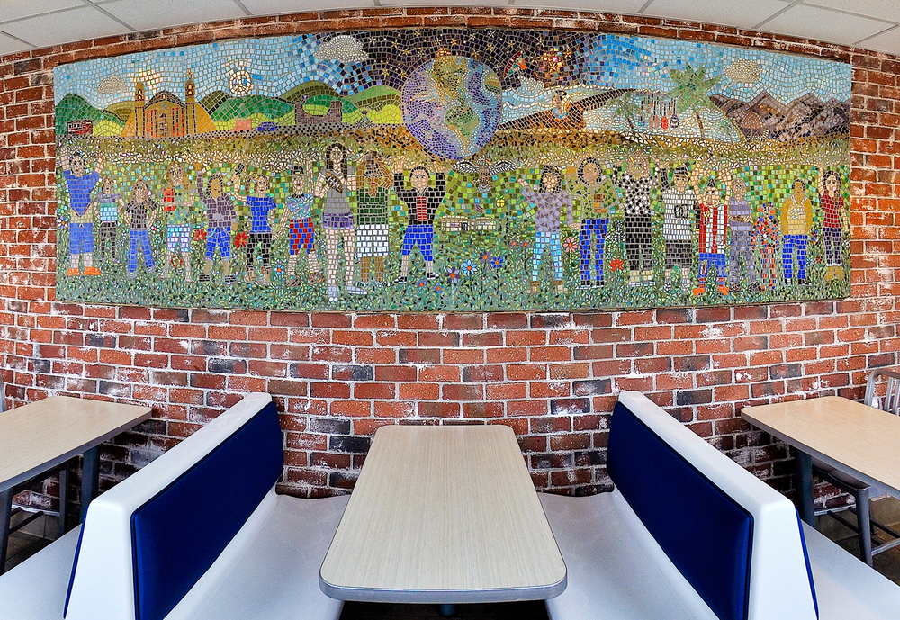 Mosaic Mural at Santa Barbara McDonald's Restaurant.