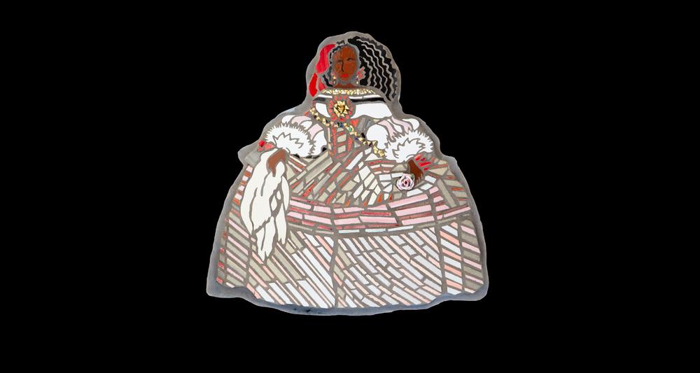 Pop-art Mosaic: La Infanta Malia.