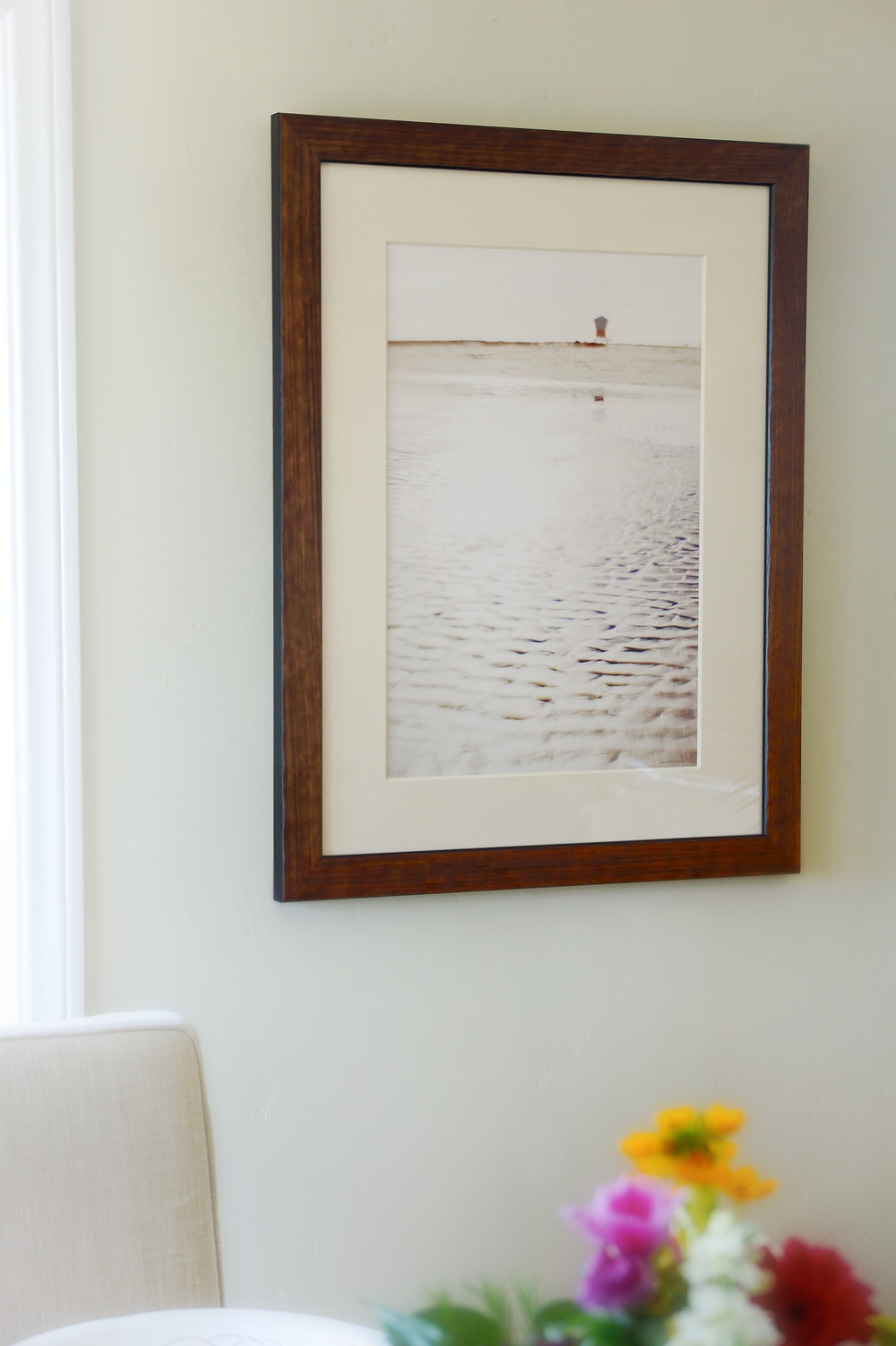 #6, Limited Edition Arches® Watercolor Print, matted and framed in pressed Olive Wood