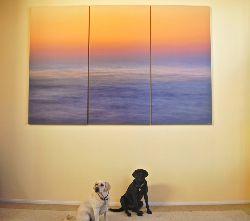 Canvas Triptych - Pastel Gradient