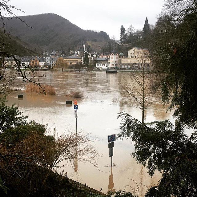 Hochwasser 2018. der Blick von unserer Terrasse 😉💦