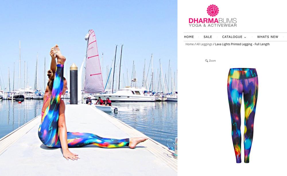 Dharma Bums Active wear - Lava Lights print
