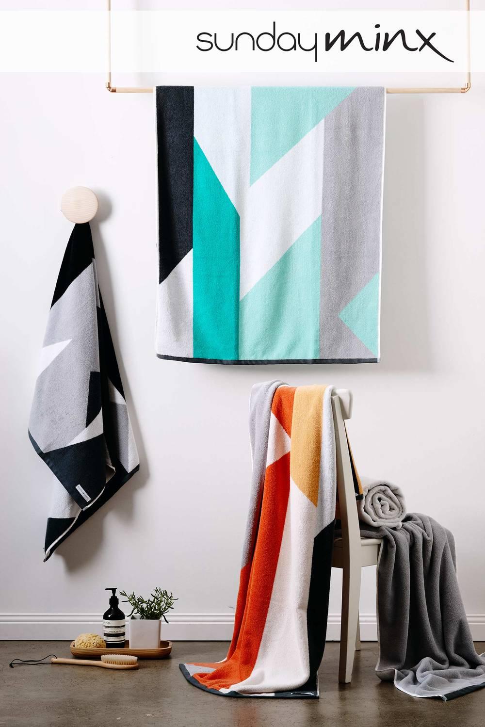 Jacquard Towel design for Australian Homewares brandSunday Minx