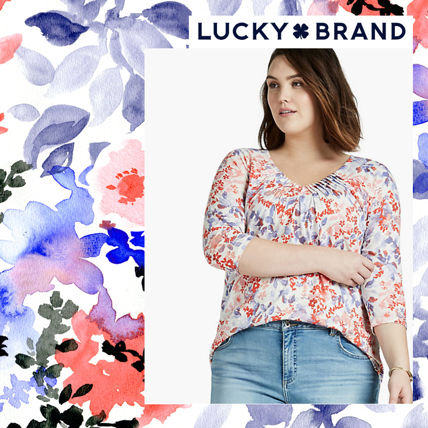 Watercoloured floral for Lucky Brands sold by Hunt+Gather Studio NM USA